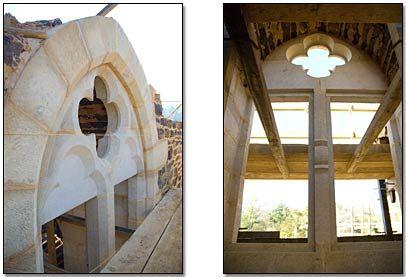 Guedelon - Fenêtre géminée