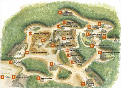 Plan du site de Guédelon
