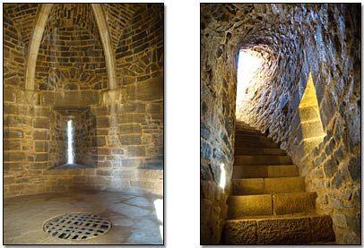 Guedelon - Voute tour maîtresse et escalier