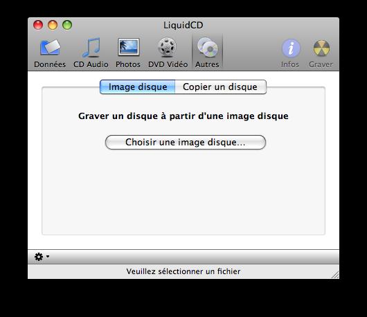 graver image disque