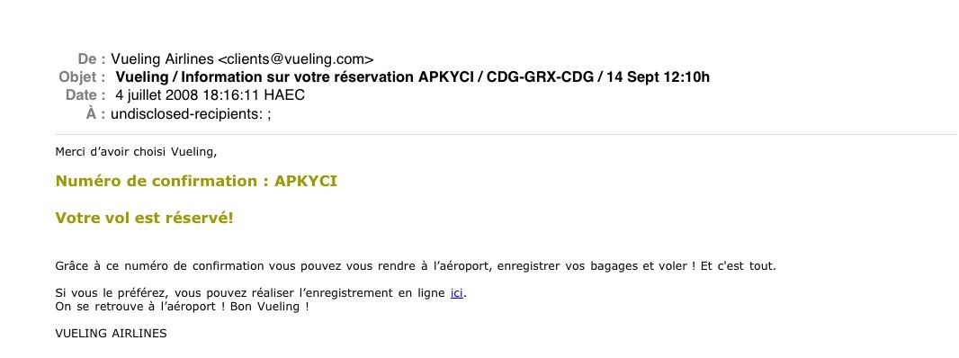 Vueling airlines est elle une compagnie a rienne honn te for Site anglais reservation hotel
