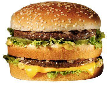 Etats-Unis. Le Bic-Mac traditionnel. 16% de graisse.