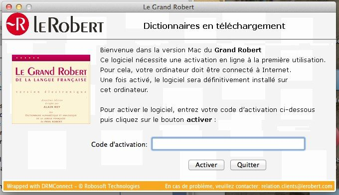 le robert correcteur serial number