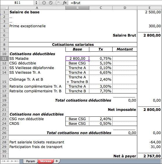 Bulletin de paye 2
