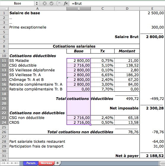bulletin de salaire en anglais