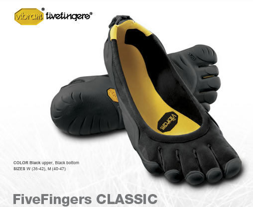 Taille Vibram Five Fingers