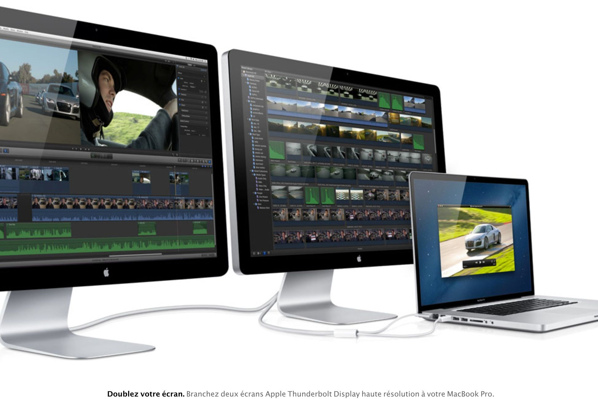 Double écran de computre pour des présentations et des maquettes