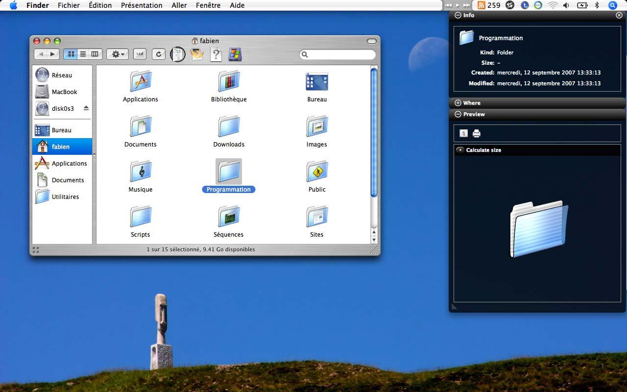 Macgizmo vous donne l info for Fenetre utilitaire mac