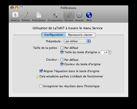 préférences-services-configuration