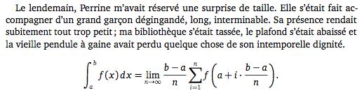 Échantillon MathDesign Charter