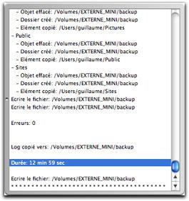 Logs de iBackup