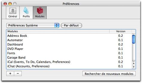 Préférences générales de iBackup