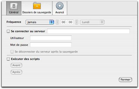 Automatisation avec iBackup