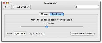régler la vitesse du trackpad